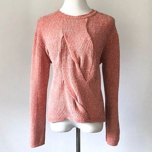 Joan Vass New York Chenille Cable Sweater